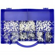 595 tlg Sicherungsscheiben Sortiment DIN 6799 galvanisch verzinkt 2,3 bis 12mm
