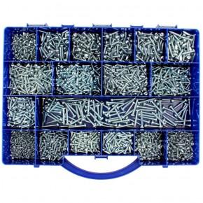 2700 tlg TX Blechschrauben Sortiment Form C DIN 7981 2,9x9,5 bis 4,2x32