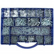 2300 tlg Zylinderschrauben Muttern U-Scheiben Sortiment DIN 84-125-934 M3 - M5