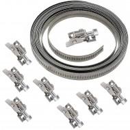 1 Endlosband Sortiment aus 3m Endlosband BB 9mm und 8 klappbare Schellenköpfe W4