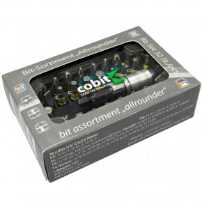 32 - tlg. Bit - Sortiment, mit Schnellwechsel - Bithalter, PH-, PZ-, TX-, SL-, HEX -  Bits