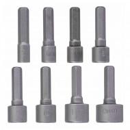 8- teiliger Stecknußsatz für Bithalter Chrom Vanadium , 5-13mm