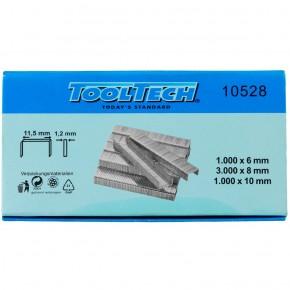 1 Tackerklammer-Sortiment - 1.000 x 6mm, 3.000 x 8mm, 1.000 x 10mm 11,5mm breite