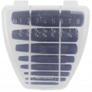 8tlg Schraubenausdreher-Satz - Gr. 1 - 8 (M3 - M45 Schrauben) - CV-Stahl