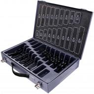 170tlg Keil Spiralbohrer Sortiment DIN 338 HSS- Metallkoffer 1-10mm