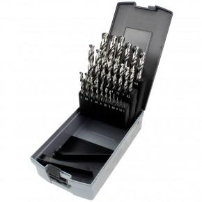 25 tlg Sortiment Spiralbohrer HSS-G geschliffen in Roseplastik Box 1mm - 13mm