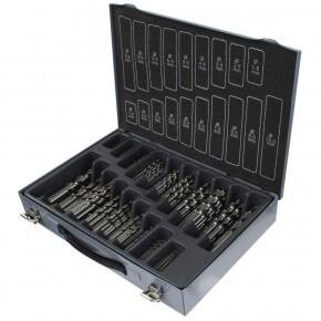 170tlg Marken-Spiralbohrer Sortiment DIN 338 HSS-G 1-10mm/0,5 Koffer