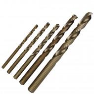 5 tlg. KEIL Edelstahlbohrer-Set DIN 338 - Ø = 4 - 5 - 6 - 8 - 10 mm