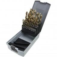 25 tlg Spiralbohrer Sortiment DIN 338 HSS-E Co 5% in Roseplastik Box 1-13 mm