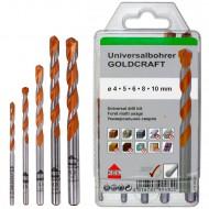 5 tlg. Universalbohrer-Set GOLDCRAFT - KEIL - Ø = 4 - 5 - 6 - 8 - 10 mm