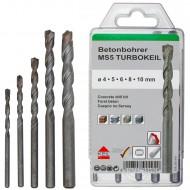 5 tlg. Betonbohrer-Set - KEIL - Ø = 4 - 5 - 6 - 8 10 mm
