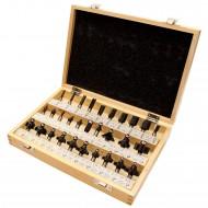 30 tlg. Fräsersatz für Holz in Holzkassette - 8mm Schaftdurchmesser