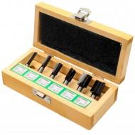 6tlg. EDESSÖ Nutfräser-Set - Ø = 6, 8, 10, 12, 16, 20mm - 8mm Schaft