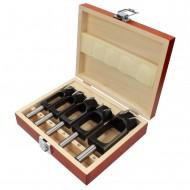 5 tlg. Premium Zapfenschneider Sortiment, mit parallelem Schaft 15 bis 35 mm