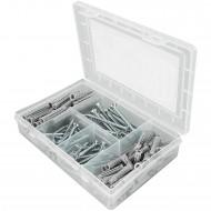 160 tlg. FISCHER Meister-Box SX Spreizdübel-Set 6-8 mm mit Schrauben 4,5-5 mm