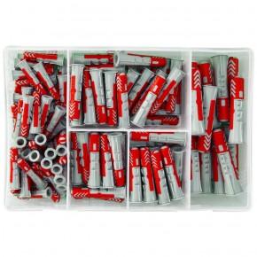 132 tlg.FISCHER Meister-Box DUOPOWER Nylon-Dübel -Sortiment 6 - 8 - 10 mm