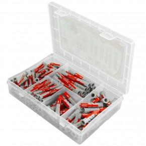 150 tlg. FISCHER Meister-Box DUOPOWER Nylon-Dübel -Sortiment 6 - 8 mm kurz-lang