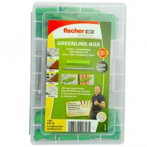 120 tlg. FISCHER Meister-Box green SX Spreizdübel 6-8 mm + A2 Schrauben 4,5-5 mm