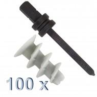 100 Gipskartondübel, Kunststoff inkl. Setzwerkzeug