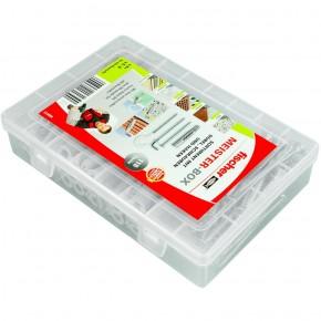 118 tlg. FISCHER Meister-Box UX R Universaldübel mit Schrauben und Haken 6-8 mm