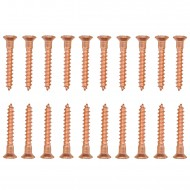 Befestigungsset für 10 Pfostenkappen - Kupfer