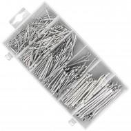 500 teiliges Splinte Sortiment, verschiedene Größen, verzinkt