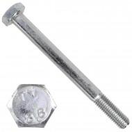 50 Sechskantschrauben DIN 931 - M10 x 110mm - verzinkt - Festigkeitsklasse 8.8