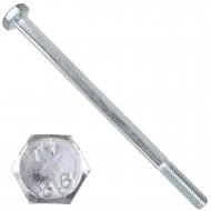 10 Sechskantschrauben DIN 931 - M10 x 160mm - verzinkt - Festigkeitsklasse 8.8