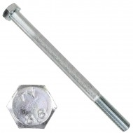 1 Sechskantschraube DIN 931 - M16 x 220mm - verzinkt - Festigkeitsklasse 8.8