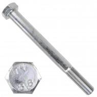 1 Sechskantschraube DIN 931 - M20 x 200mm - verzinkt - Festigkeitsklasse 8.8