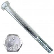 1 Sechskantschraube DIN 931 - M20 x 210mm - verzinkt - Festigkeitsklasse 8.8