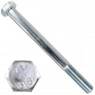 1 Sechskantschraube DIN 931 - M20 x 220mm - verzinkt - Festigkeitsklasse 8.8