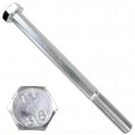 1 Sechskantschraube DIN 931 - M20 x 240mm - verzinkt - Festigkeitsklasse 8.8