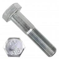 1 Sechskantschraube DIN 931 - M27 x 120mm - verzinkt - Festigkeitsklasse 8.8