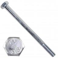 100 Sechskantschrauben DIN 931 - M6 x 85mm - verzinkt - Festigkeitsklasse 8.8
