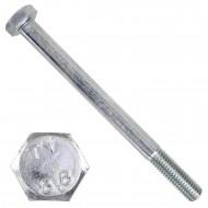 100 Sechskantschrauben DIN 931 - M8 x 100mm - verzinkt - Festigkeitsklasse 8.8