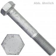 25 Sechskantschrauben M16 x 80 mm - DIN 931 - 10.9 Zinklamellenbeschichtet