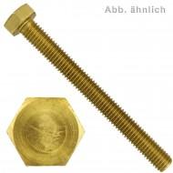 100 Sechskantschrauben M8 x 25 mm - SW 13 - Messing - DIN 933