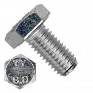 50 Sechskantschrauben DIN 933 - M10 x 20mm - verzinkt - Festigkeit 8.8