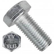 50 Sechskantschrauben DIN 933 - M16 x 35mm - verzinkt - Festigkeit 8.8