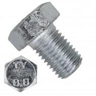 25 Sechskantschrauben DIN 933 - M20 x 30mm - verzinkt - Festigkeit 8.8
