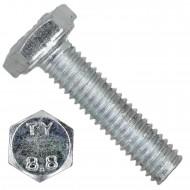 100 Sechskantschrauben DIN 933 - M3 x 12mm - verzinkt - Festigkeit 8.8