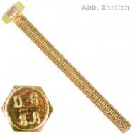 500 Sechskantschrauben M6 x 16 mm - DIN 933 - 8.8 gelb verzinkt