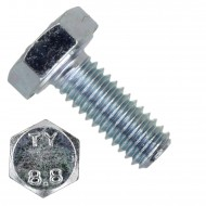 100 Sechskantschrauben DIN 933 - M4 x 10mm - verzinkt - Festigkeit 8.8