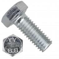 100 Sechskantschrauben DIN 933 - M5 x 12mm - verzinkt - Festigkeit 8.8
