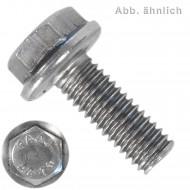 200 Sechskantschrauben mit Flansch - 5 mm x 20 mm - DIN 6921 - A2