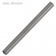 100 Zylinderstifte 1 x 12 mm - DIN 6325 - gehärtet - blank