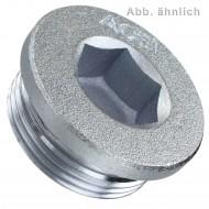 1 Verschlussschraube DIN 908 Stahl verzinkt kegeliges Rohrgewinde 1 1-2 Zoll