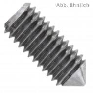 200 Gewindestifte mit Schlitz und Spitze DIN 553 M4 x 12 mm