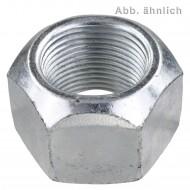 100 Sechskantmuttern M12 - Fein 1,5mm - hoch,mit Klemmteil - verz. - DIN 980